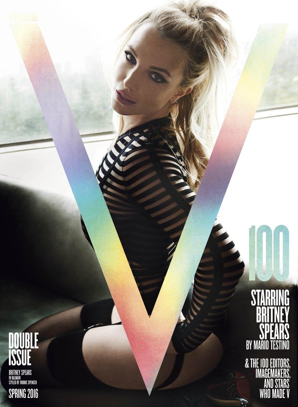 Britney Spears y las portadas de V100