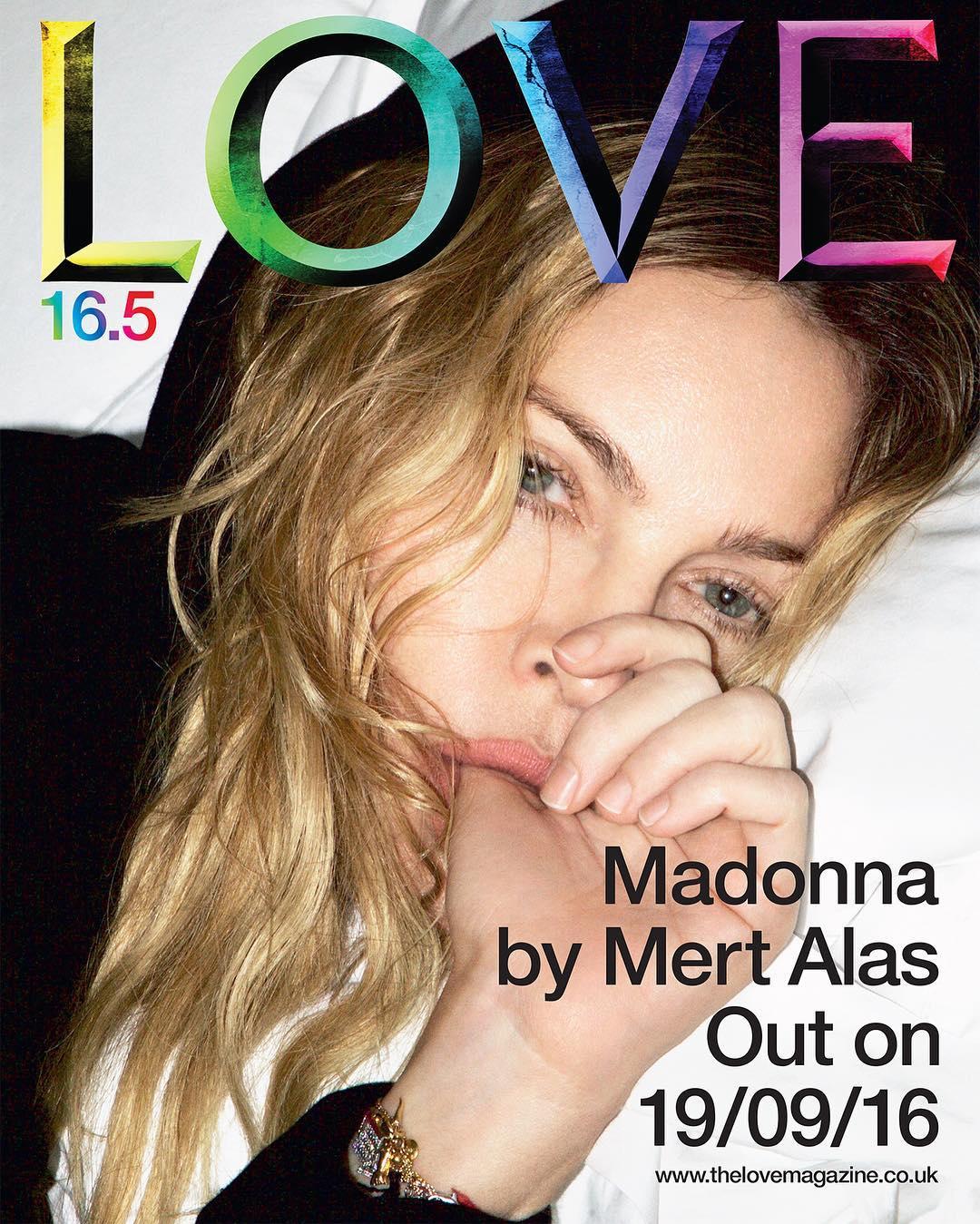 Madonna para LOVE Magazine 2016