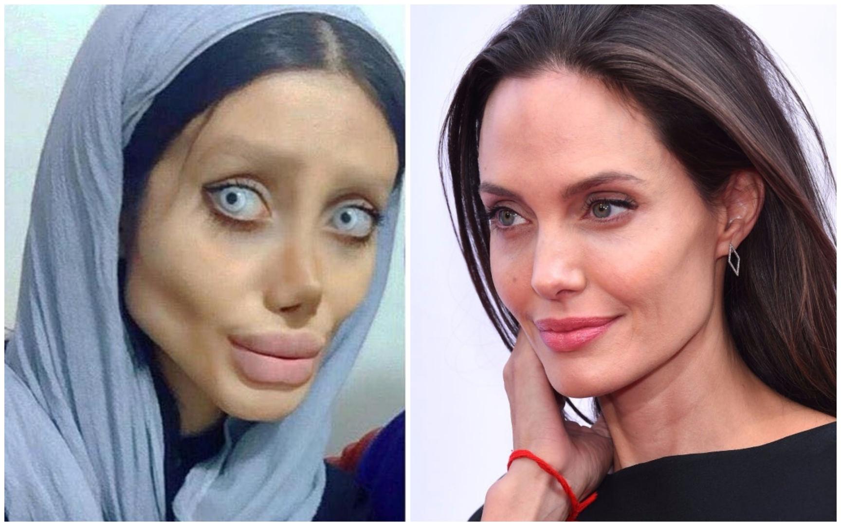 Loca que se parece a Angelina Jolie