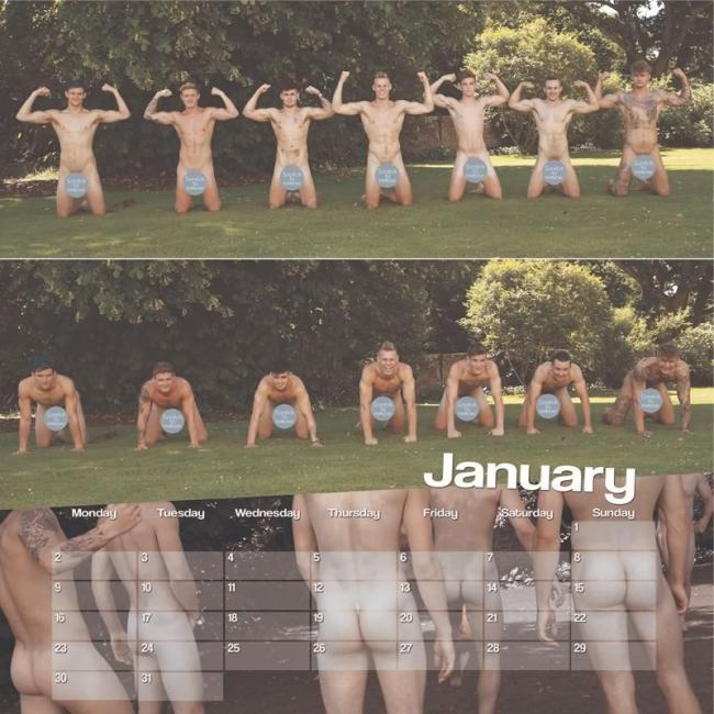 Calendario Dorset desnudos 2017