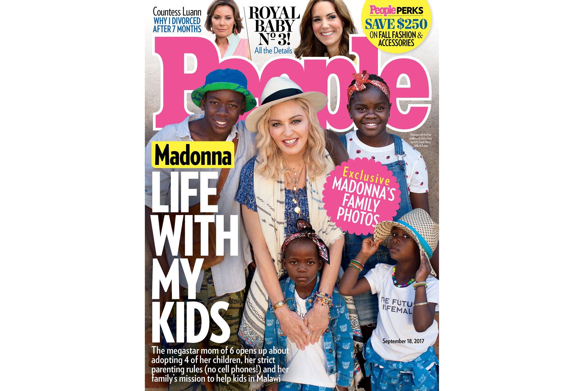 Madonna y sus hijo en la revista 'People'