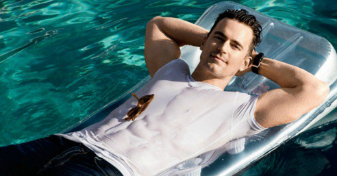 Matt Bomer mojado en 'Men's Fitness'
