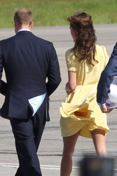 Kate Middleton y el viento