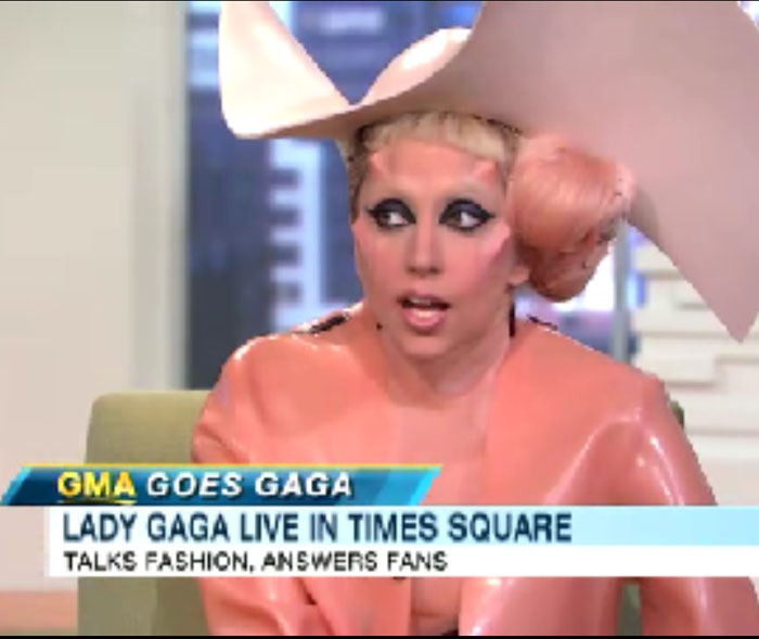 Lady Gaga en 'Good Morning America'