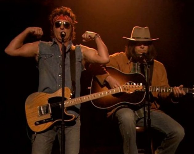 Jimmy Fallon y Bruce Springsteen versionan 'Sexy And I Know It' de LMFAO