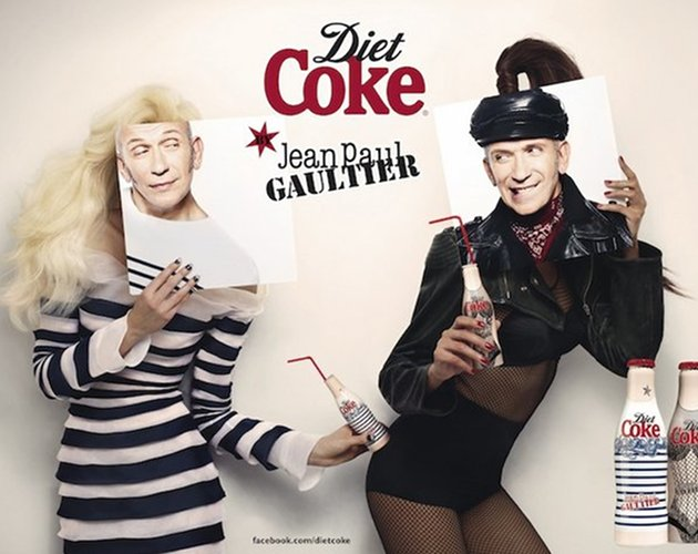 Jean Paul Gaultier diseña las botellas de Coca Cola Light