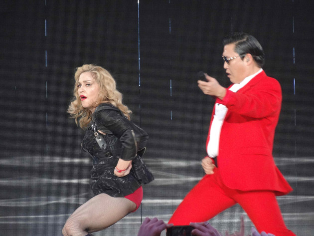 Madonna y PSY bailan 'Gangnam Style' con 'Give It 2 Me'