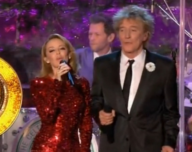 Kylie canta con Rod Stewart 'Let It Snow'