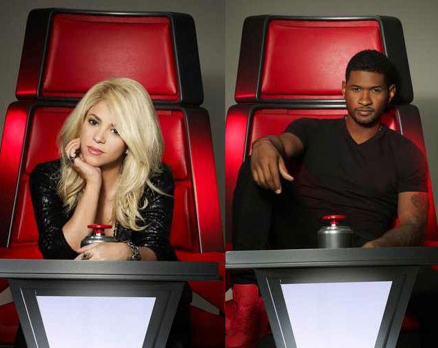 Shakira y Usher en las nuevas fotos oficiales de 'The Voice' Shakira-usher-the-voice