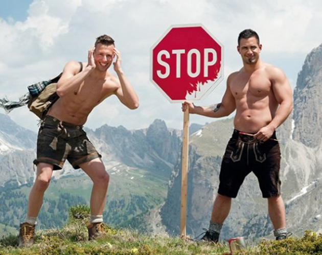 'Men In The Alps' 2014: hombres sin camiseta para un calendario benéfico