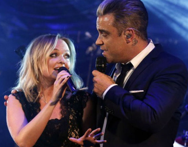 Robbie Williams y Emma Bunton cantan juntos 'Dream A Little Dream Of Me'