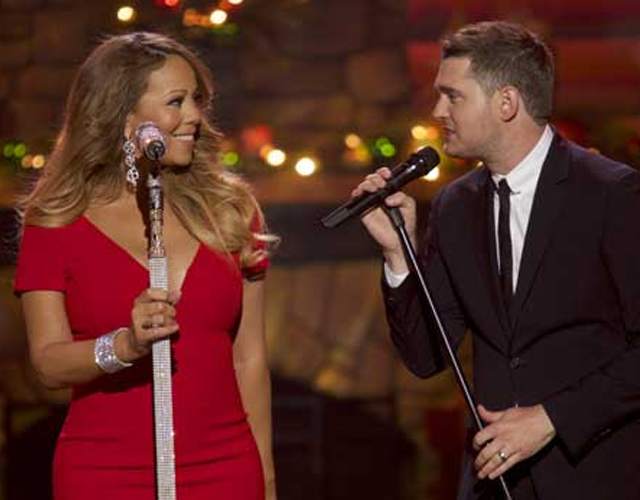 Mariah Carey canta 'All I Want For Christmas Is You' con Michael Bublé