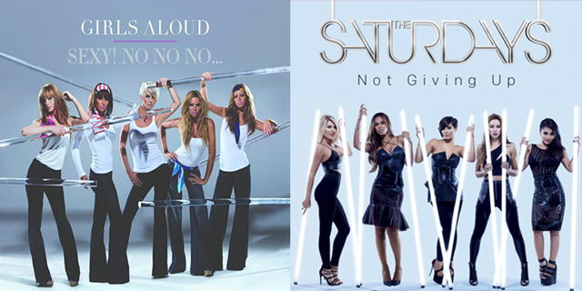 The Saturdays copian a Girls Aloud en la portada de 'Not Giving Up'