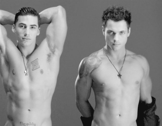 Chicos desnudos Andrew Christian Black / White
