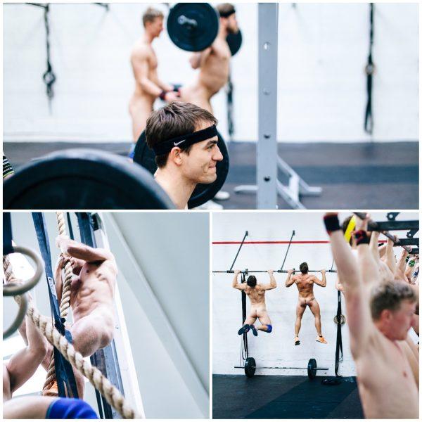 Hombres desnudos gimnasio crossfit