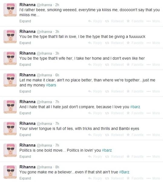 Rihanna letra