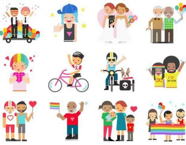 Stickers del Orgullo Gay en Facebook