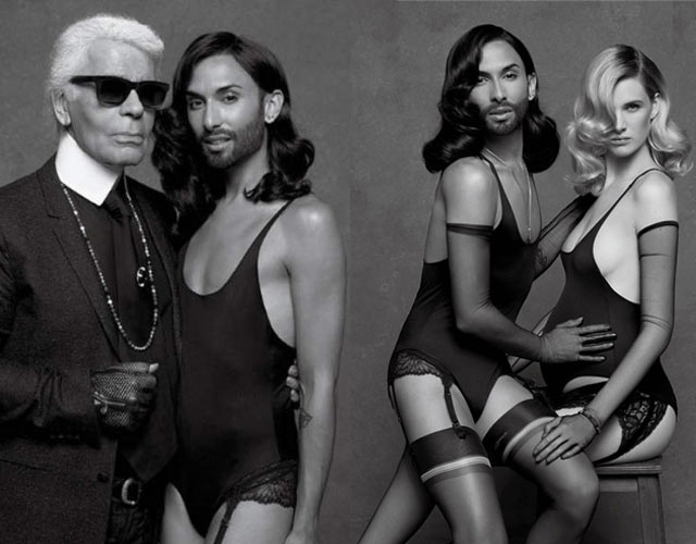 Conchita Wurst, modelo para Karl Lagerfeld en CR Fashion Book