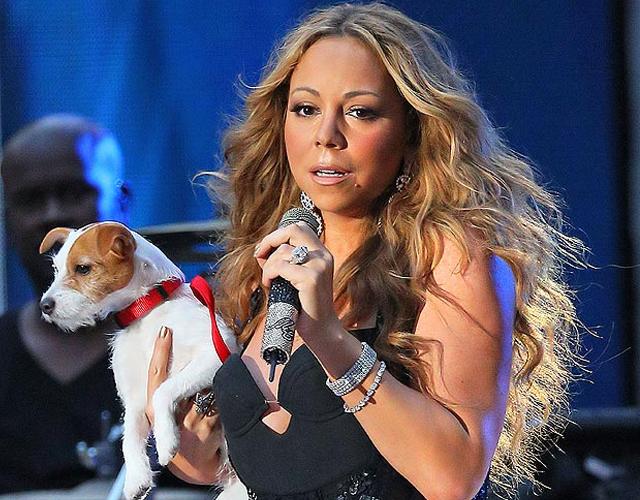 Resultado de imagen de mariah carey y su perro