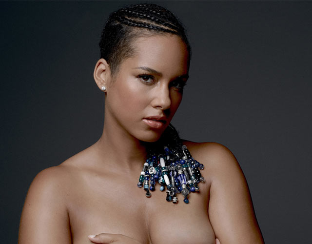 Alicia Keys desnuda y embarazada en New York Times