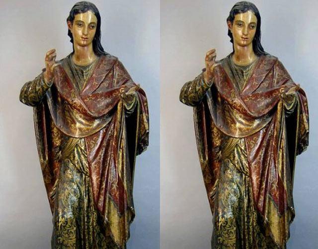 El santo travesti: descubren que una talla de santa Lucía era san Juan travestido