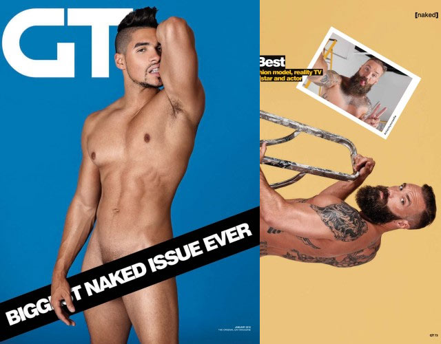 "Louis Smith desnudo en la ""naked issue"" de Gay Times"