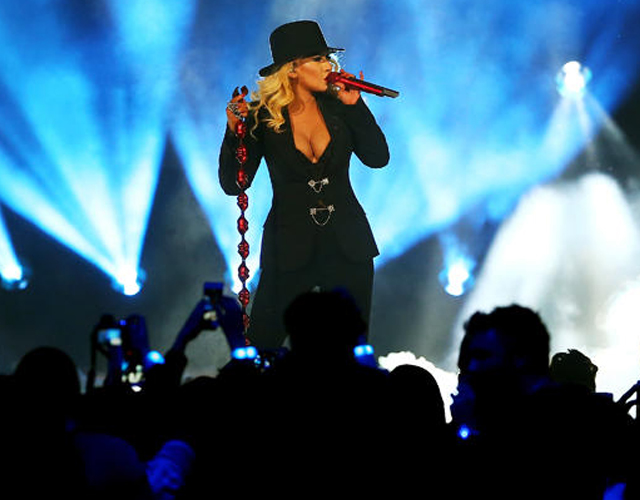 Christina Aguilera homenajea a Nueva York en el NBA All Star