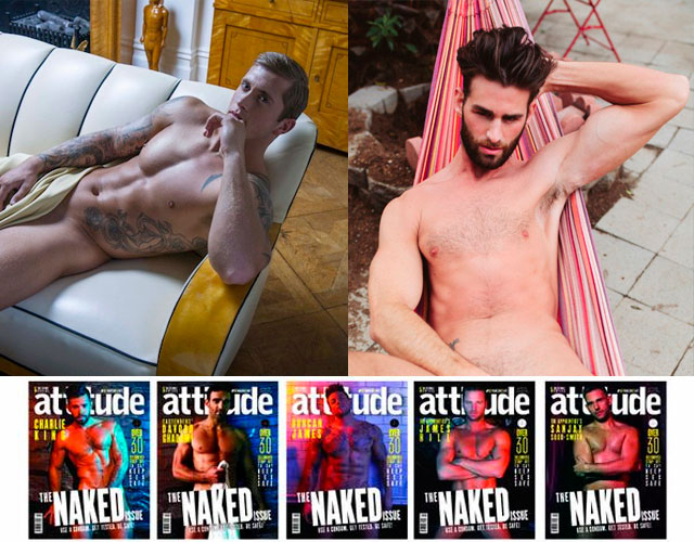 Famosos desnudos en 'The Naked Issue' de Attitude