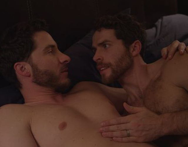 Actores desnudos en 'The Last Straight Man'