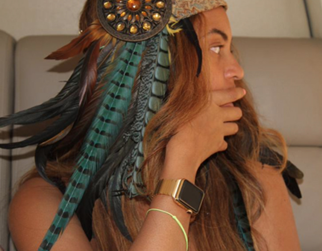 Beyoncé presume de Apple Watch de oro personalizado