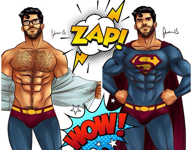 Superheroes and gay and comic
