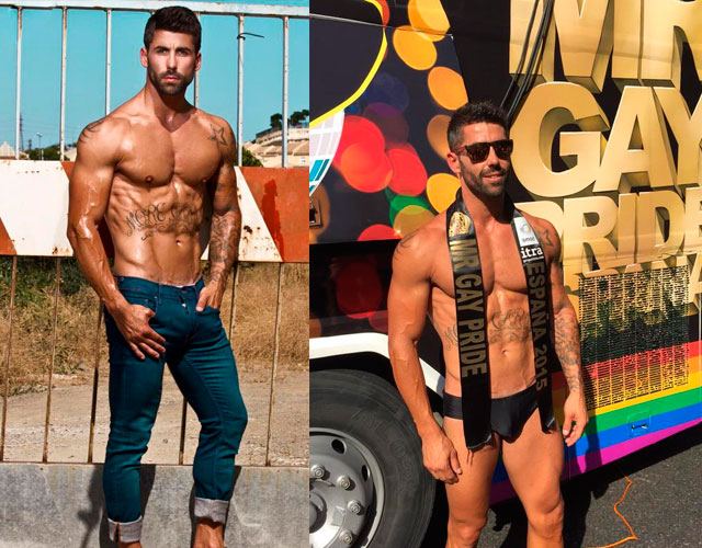 Francisco Pérez desnudo Mr Gay 2015
