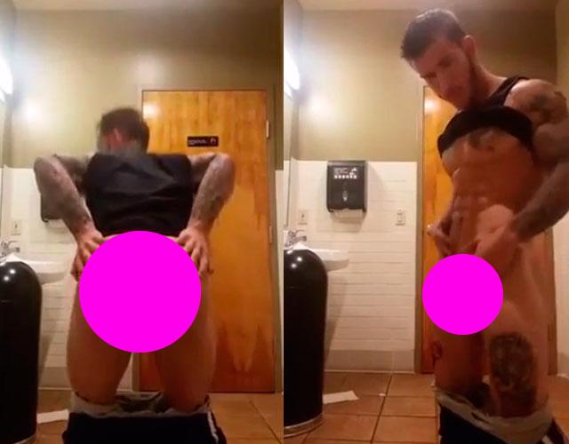 masturbandose en publico