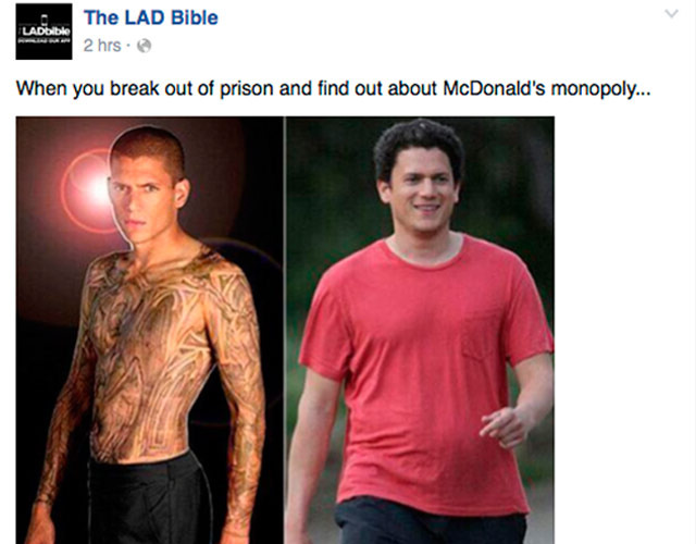 El actor gay Wentworth Miller, al borde del suicidio por un meme