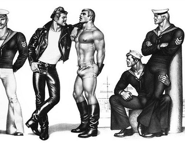 Dibujos de hombres musculares gay
