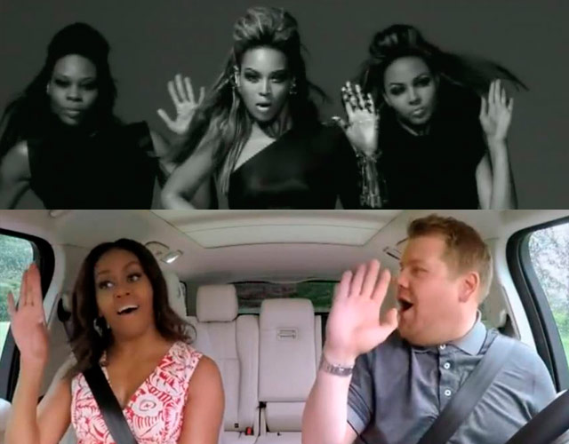 Michelle Obama imita a Beyoncé en Carpool Karaoke