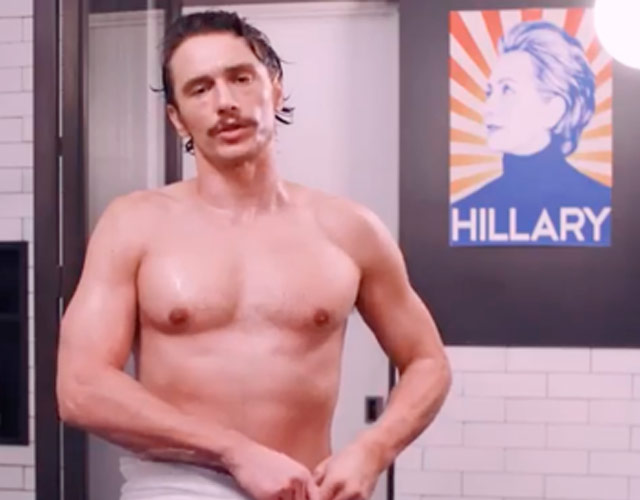 James Franco desnudo para que votes a Hillary Clinton
