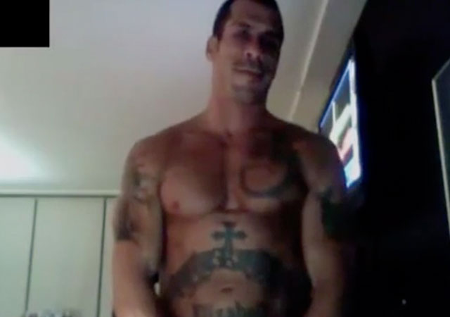 Danny Wood de New Kids On The Block, desnudo masturbándose en la webcam