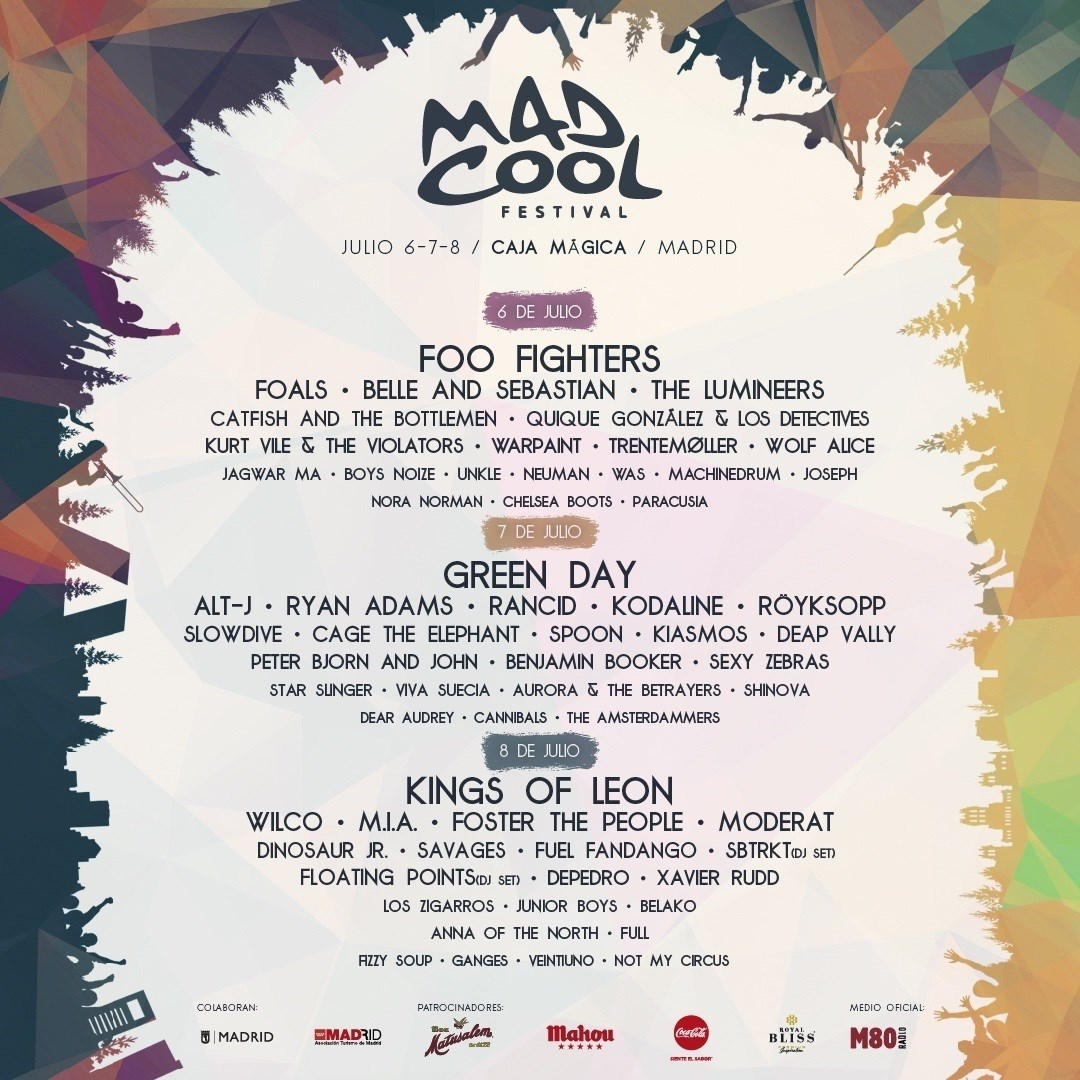 Cartel definitivo del Mad Cool Festival 2017