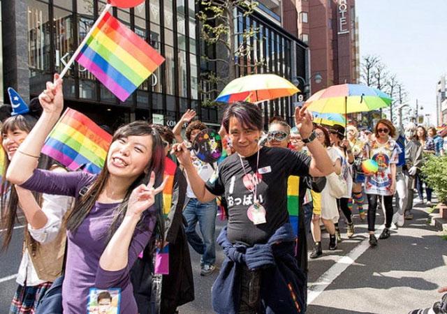 Japón promediado gay