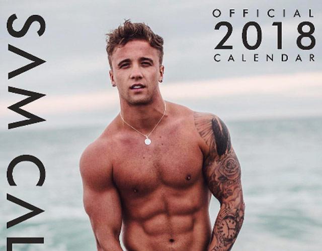 Sam Callahan desnudo en su calendario 2018