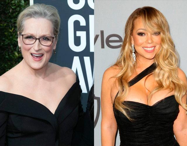 Mariah Carey robó el asiento a Meryl Streep en los Globos de Oro