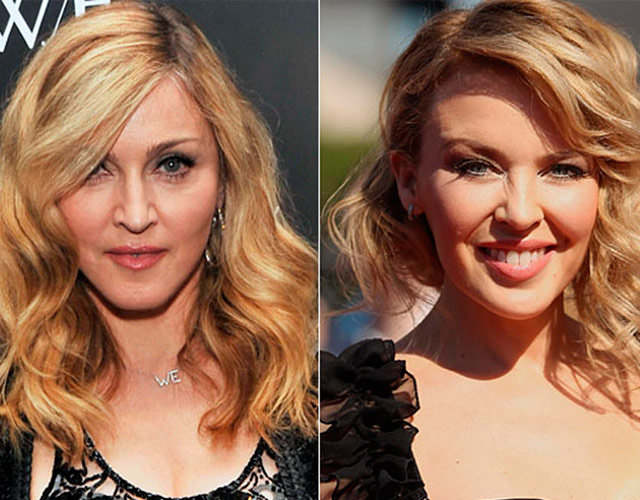 Kylie Minogue canta 'Hung Up' de Madonna en la radio
