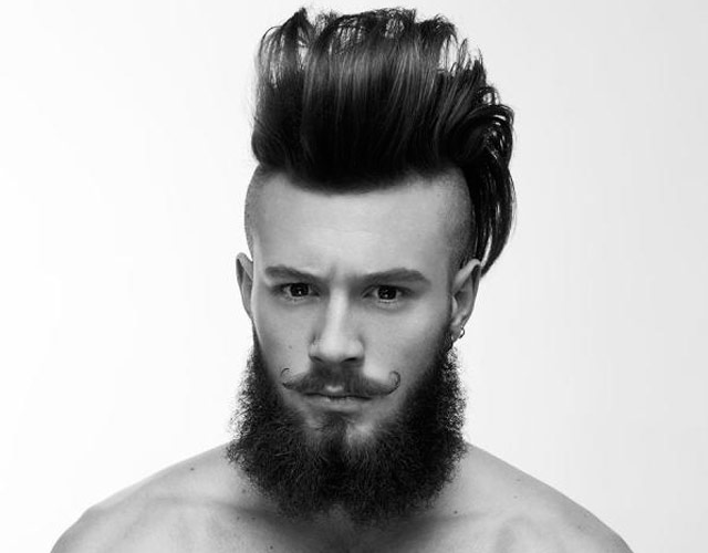 Corte de pelo pelado con degradado