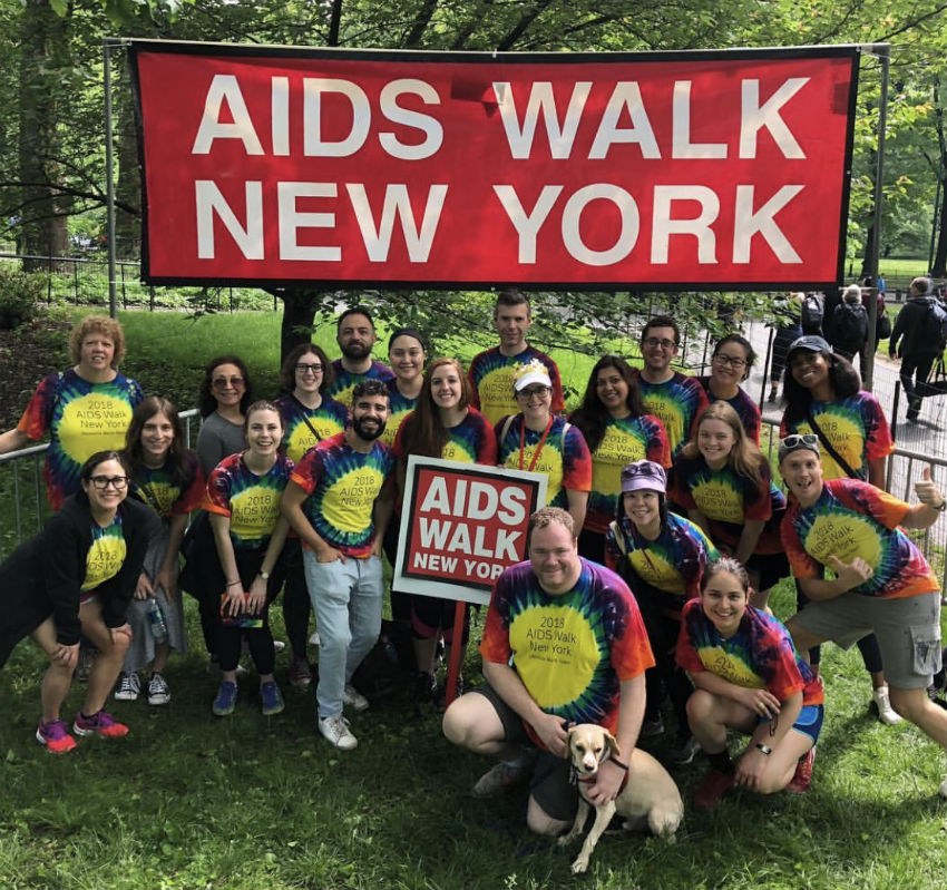 The Deutsche Bank AIDS Walk contingent