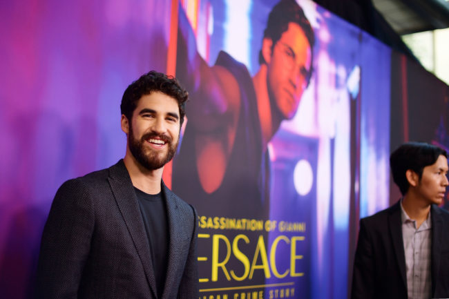 "Darren Criss attends the panel and photo call for FX's ""The Assassination of Gianni Versace: American Crime Story."""