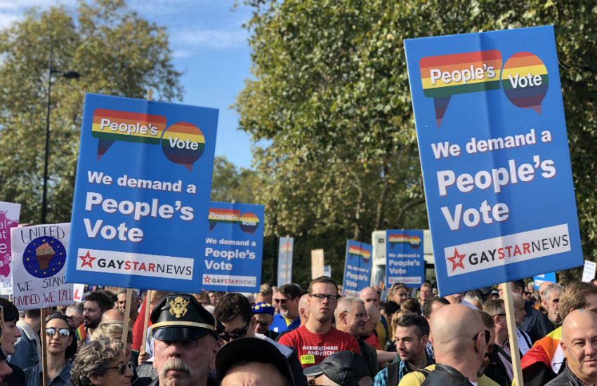 LGBT+ for a People's Vote at the 700,000 strong march in London
