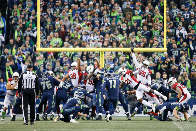 The alleged ahte crime took place during a match between the Arizona Cardinals at CenturyLink Field on December 30, 2018 in Seattle, Washington.