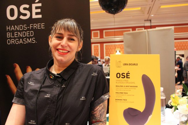 Evie Smith of startup Lora DiCarlo promotes Ose robotic sexual stimulator for women
