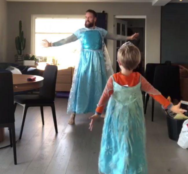 Ørjan Burøe is dancing on the Frozen track
